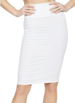 Bandage Pencil Skirt - White - Size M - 1406072240236