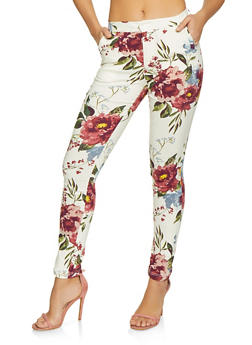 Hyperstretch Floral Pants - 1407056570081