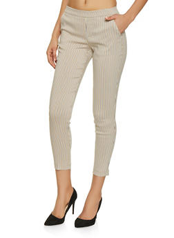 Pull On Striped Pants - 1407056570261