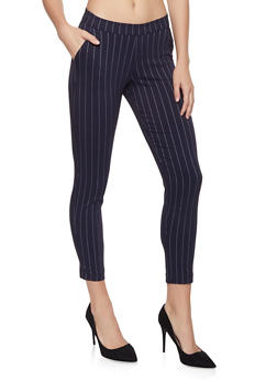 Pinstripe Pull On Pants - 1407056571250