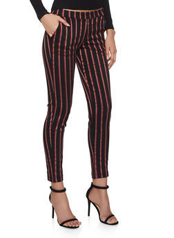 Striped Pull On Pants - 1407056571974