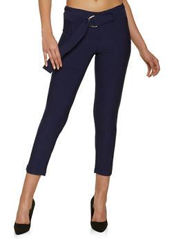 Belted Porkchop Pocket Pants - 1407056572218