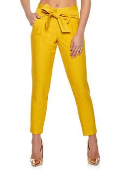 Tie Waist Trousers - 1407056573212