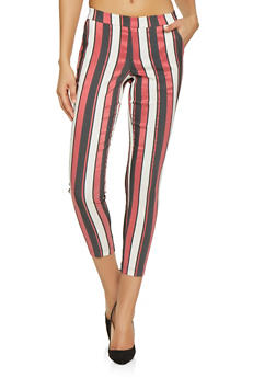 Pull On Striped Dress Pants - 1407056573261