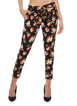 Printed Crepe Knit Pants - 1407056574277