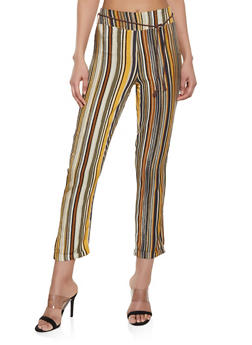Multi Striped Pull On Pants - 1407056574527