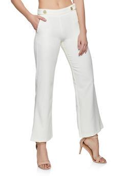 Tabbed Button Dress Pants - 1407056579100