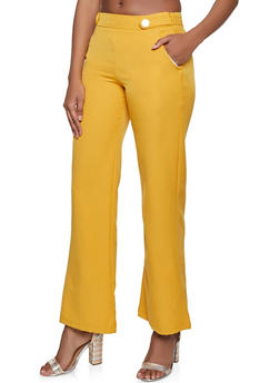 Tabbed Button Dress Pants - 1407056579100