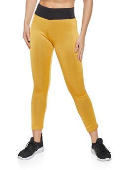 Faux Fur Lined Leggings - 1407062703117