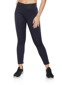 Faux Fur Lined Active Leggings - 1407062703118