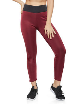Faux Fur Lined Active Leggings - 1407062703118