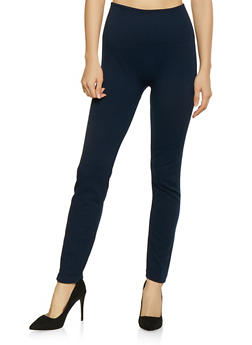 Basic Fleece Lined Leggings - 1407062703875