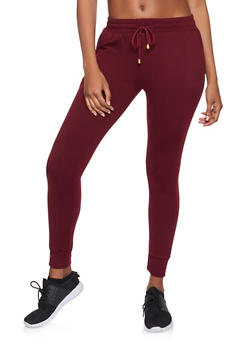 Fleece Lined Soft Knit Joggers - 1407063401133