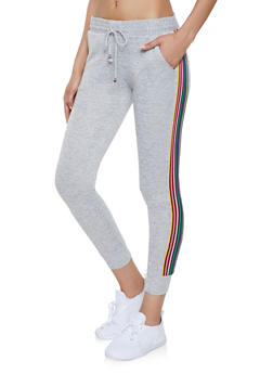Rainbow Striped Tape Joggers - 1407063401593