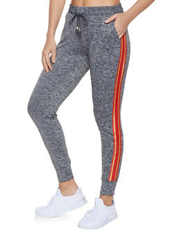 90df852a5672 Striped Tape Detail Joggers - 1407063401595