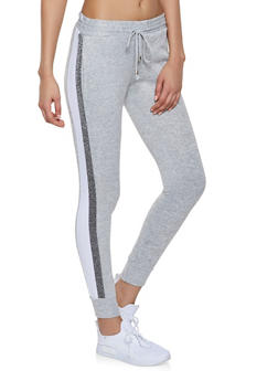 Shimmer Tape Joggers - 1407063401596