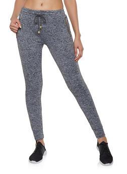 Fleece Lined Activewear Joggers - 1407063409728