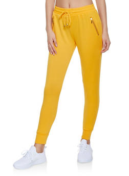 Fleece Lined Activewear Joggers - 1407063409728