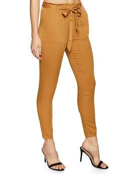 Paper Bag Waist Pants - 1407068193088