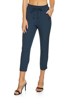 Smocked Waist Casual Pants - 1407068193331
