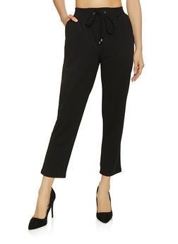 Crepe Knit Dress Pants - 1407069390603
