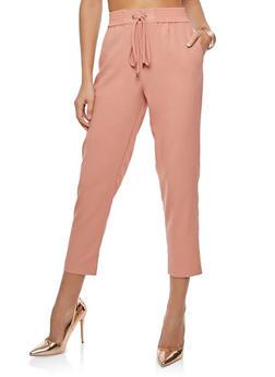 Crepe Knit Casual Pants - 1407069393011