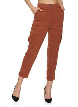 Crepe Knit Cargo Pants - 1407069397555