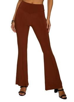 Flared Spandex Pants - 1407069398077
