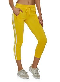 Pintuck Varsity Stripe Sweatpants - 1407072290011