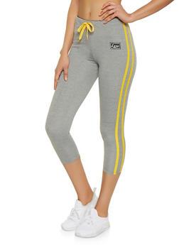 Love Waist Capri Track Pants - 1407072290277