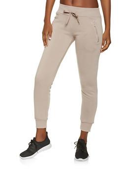 Zip Pocket Fleece Joggers - 1407072291322
