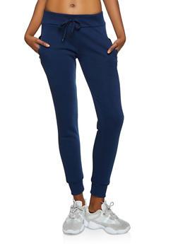 Fleece Zip Pocket Joggers - 1407072292231