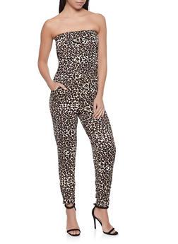 Leopard Tube Jumpsuit - 1408015990100