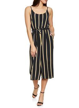 Striped Wide Leg Jumpsuit - 1408061353016