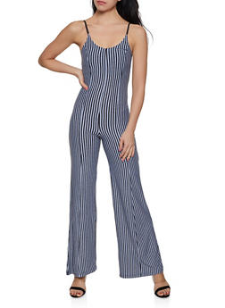 Striped Wide Leg Jumpsuit | 1408062705711 - 1408062705711