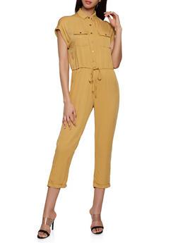Button Front Jumpsuit | 1408068193329 - 1408068193329