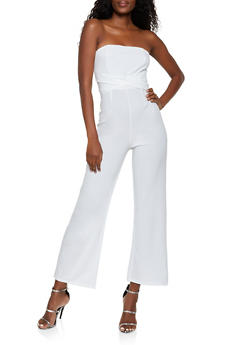 Tie Back Tube Jumpsuit - 1408069395215