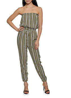 Striped Tube Jumpsuit | 1408069397347 - 1408069397347
