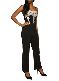 Crochet Detail Cami Jumpsuit - 1408069398803