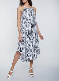 Tie Dye Midi Cami Dress - 1410054211008