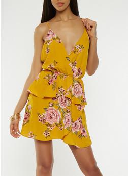 Floral Low Back Dress - 1410054211760
