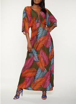 Tropical Print Maxi Dress - 1410062128887