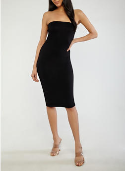 Solid Tube Dress - 1410062701926