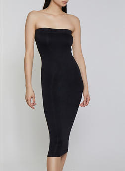 Crepe Knit Tube Dress - Black - Size S - 1410062705315