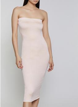 Crepe Knit Tube Dress - 1410062705315