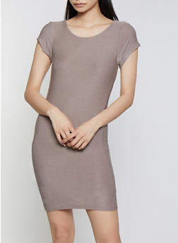 Crepe Knit Bodycon Dress - 1410062705316