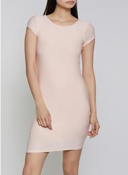 Crepe Knit Bodycon Dress - 1410062705316