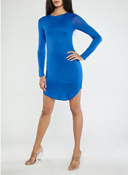 Long Sleeve Bodycon Dress - 1410062706393