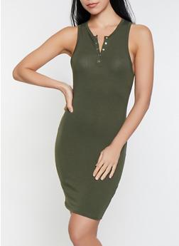 Henley Tank Dress - 1410066494525