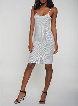 Striped Cami Dress - 1410066494722